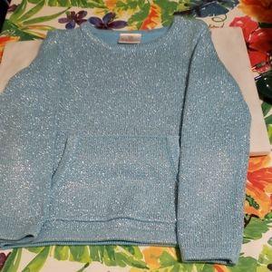 Hanna Andersson Blue Glitzy Sweater